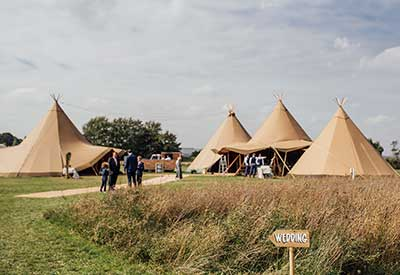 Buffalo Tipi on the Field of Dreams