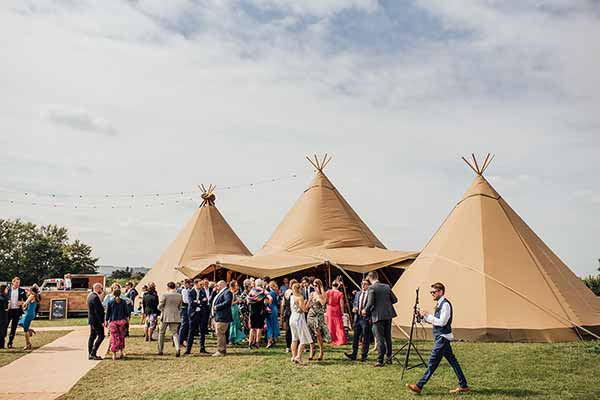 The perfect tipi set up for an intimate wedding
