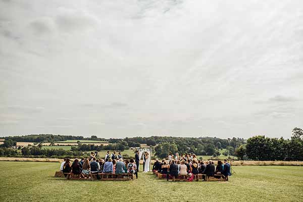 A Cotswold ceremony on the Field of Dreams