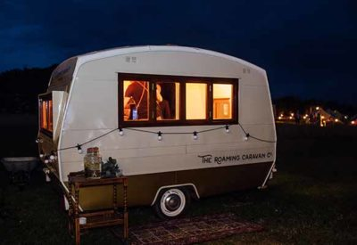 The Roaming Caravan on the Cotswold Field of Dreams