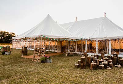 Traditional Pole Marquee by Four Shires