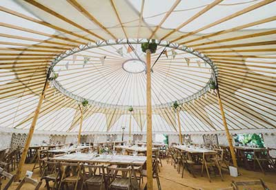 A Hooes Yurt on the Field of Dreams