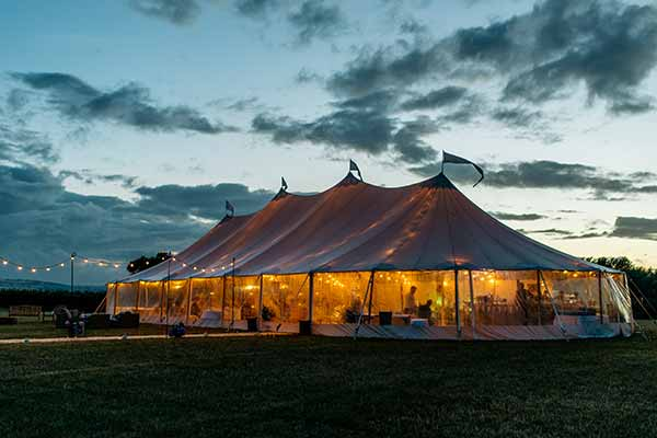 Sperry Tent at Twilight