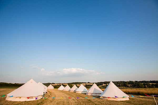 Tipi Village on the Cotswold Field of Dreams