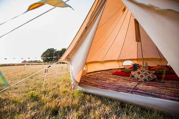 Inside of a Bell Tent
